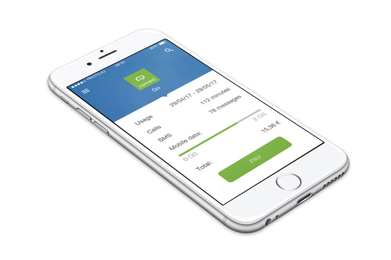 Digiteal pay button smartphone