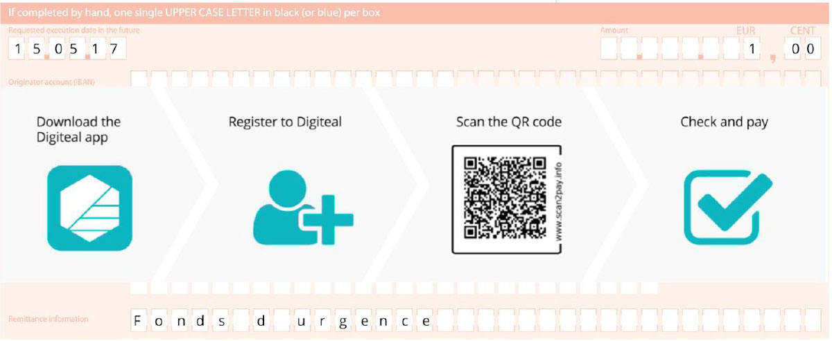 Facture électronique GDPR - Bulletin de virement avec Digiteal
