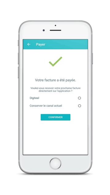 Facture électronique GDPR - Choisir le canal de facturation sur mobile