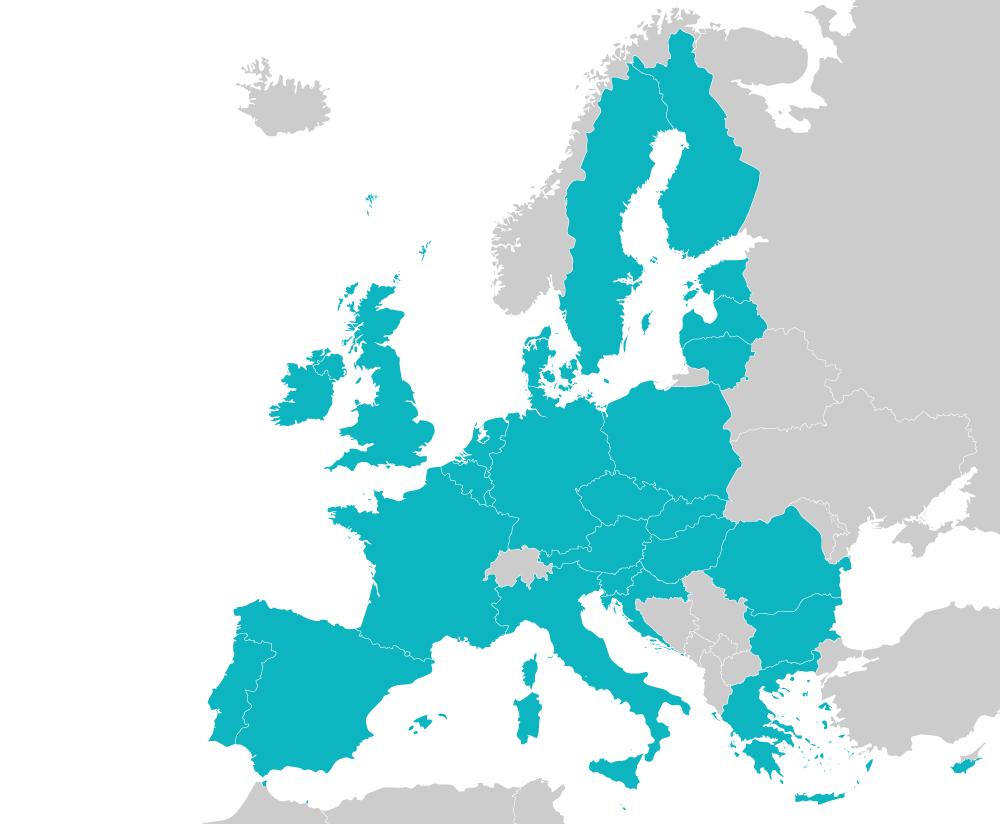 European map of Digiteal