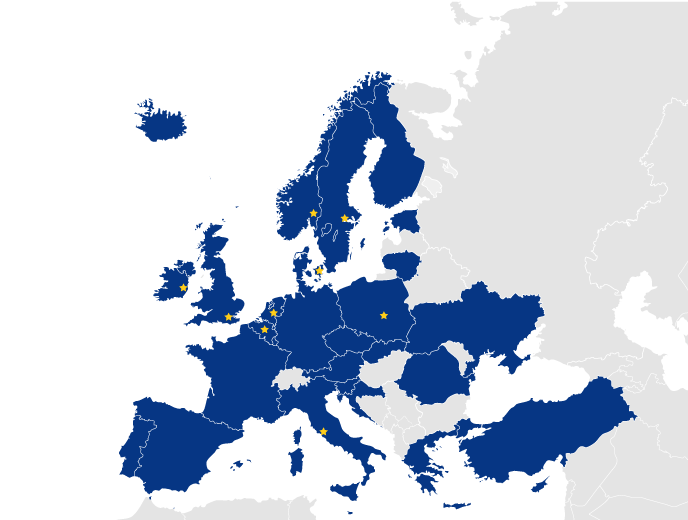 EU peppol access points map