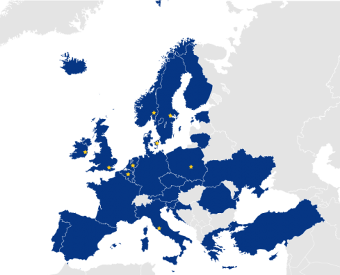 EU Peppol coverage map