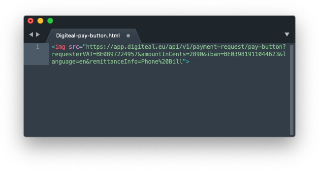 Digiteal pay button html code